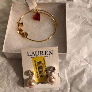 Alex & Ani braclet &Ralph lauren earrings